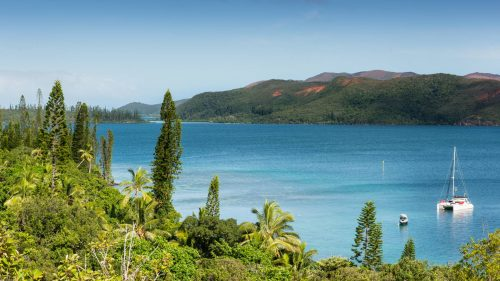 View from Casy island in New Caledonia
