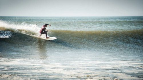 Surfing Chicama in Peru