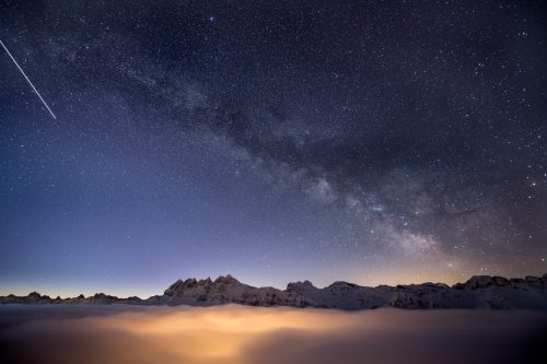 Milky Way above Les Dents du Midi